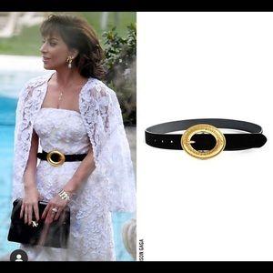 Zara velvet black belt sz 30
